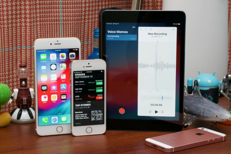 iOS 12 on the iPhone 5S, iPhone 6 Plus, and iPad Mini 2