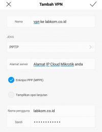 Membuat Koneksi VPN/PPTP Mikrotik ke Android