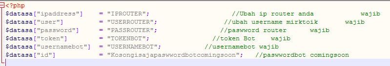 koneksi database mikbotam bot telegram php