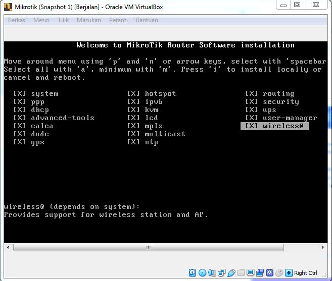 Cara Install RouterOS Mikrotik di VirtualBox