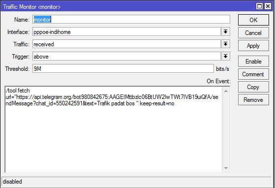 Memanfaatkan Tool Traffic Monitor Untuk Monitoring Traffic di Mikrotik