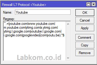 Blokir Youtube dengan Layer7 Protocols di Mikrotik